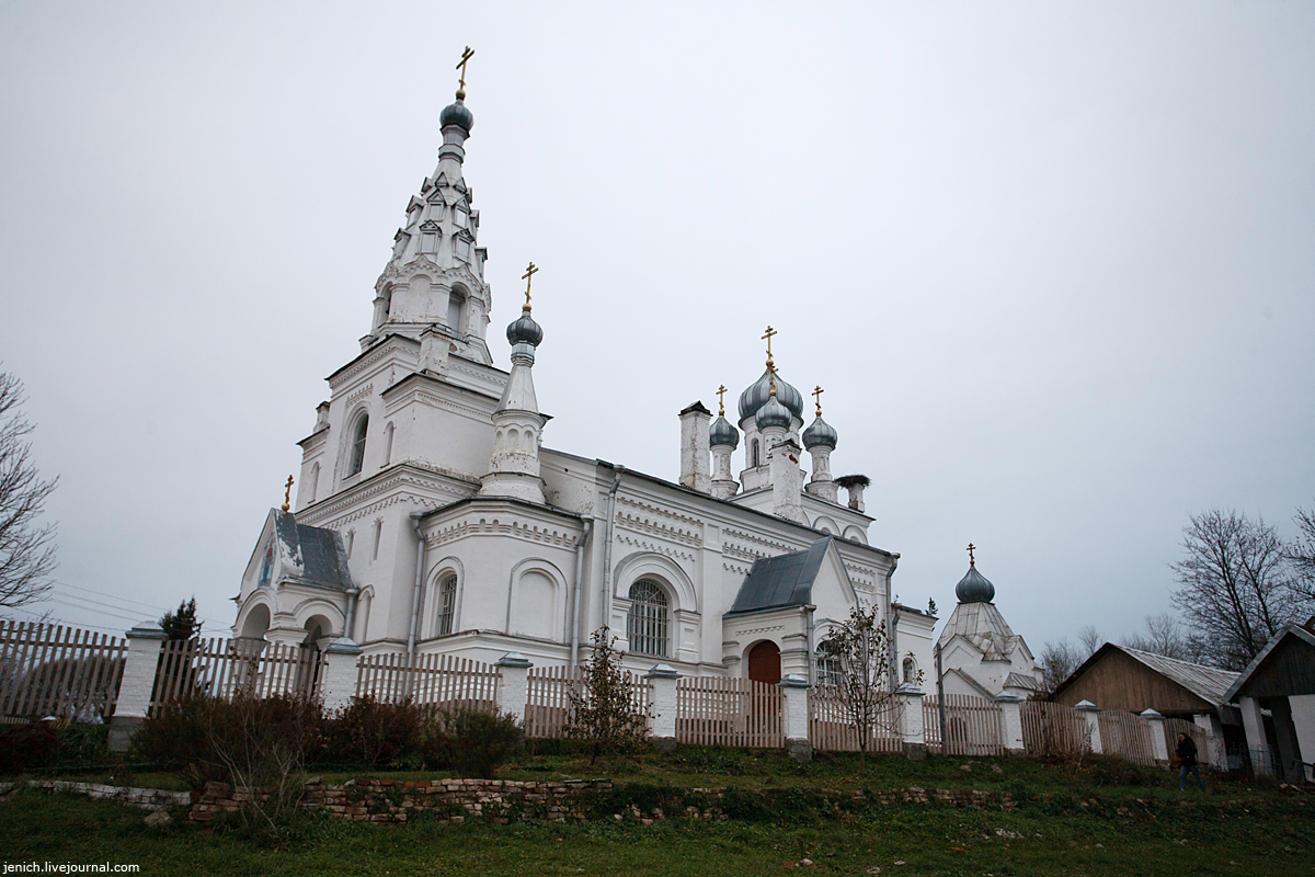 фото, фотография, озеро Самро, храм, церковь, Редкино, межевой столб