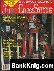 Журнал Just Cross Stitch 1989 декабрь