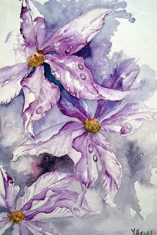 Акварели художницы Yvonne Harry. Цветы, они так нежили, так радовали глаз