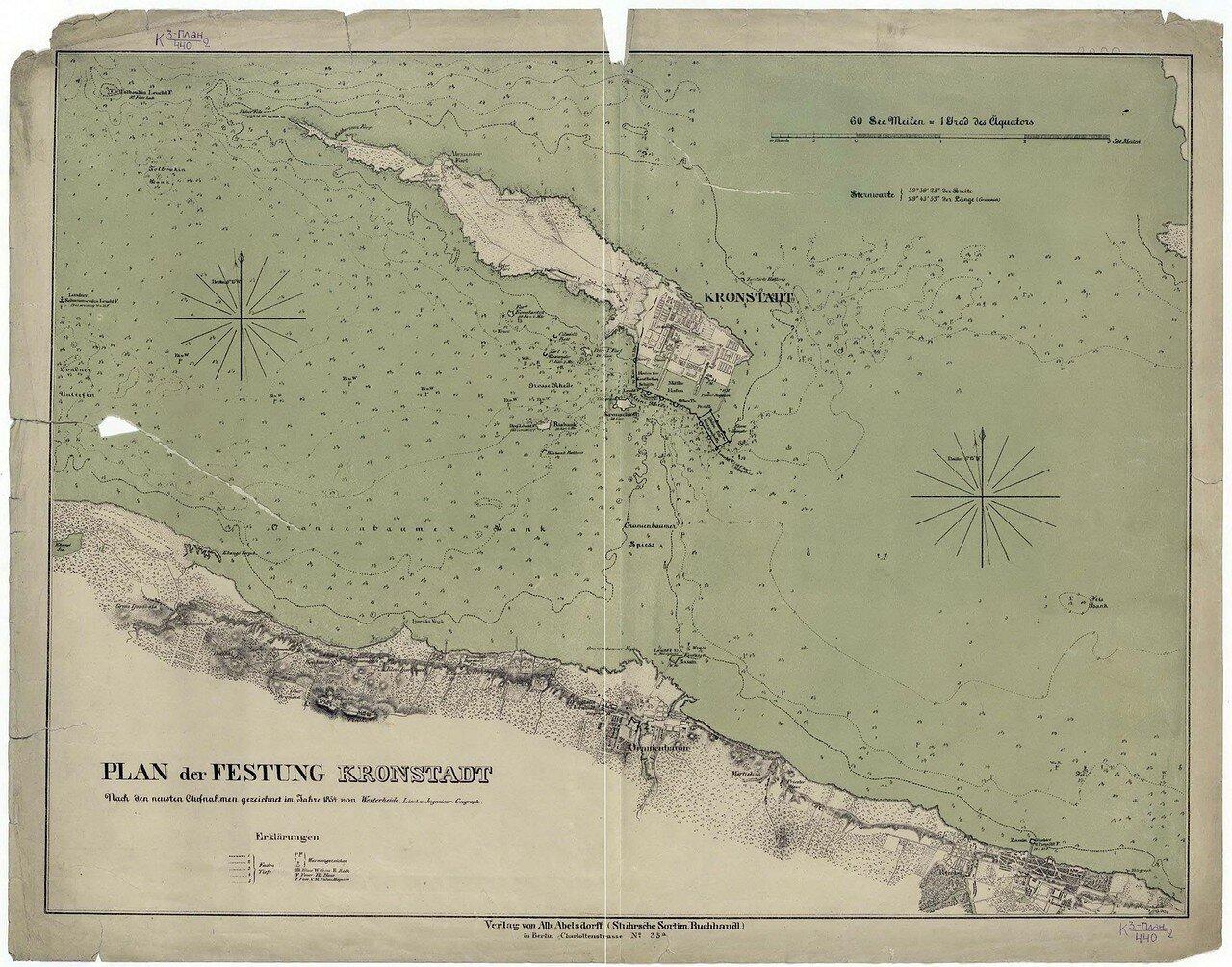 1954. План крепости Кронштадт