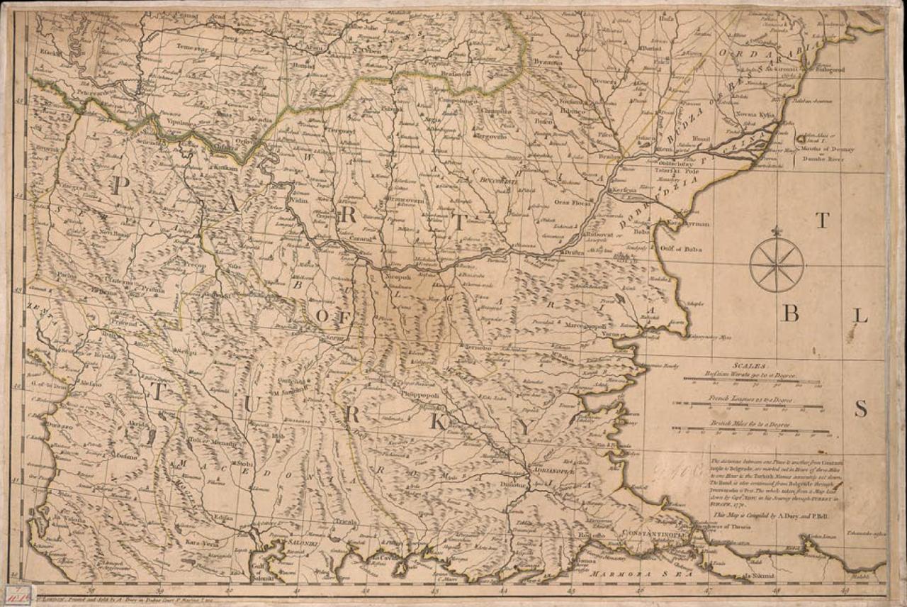 1783. Карта Российской империи. Часть 2
