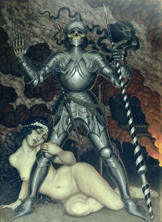 Смерть и девушка. 1910, Калмаков Николай