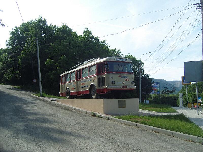 троллейбус на Ангарском перевале