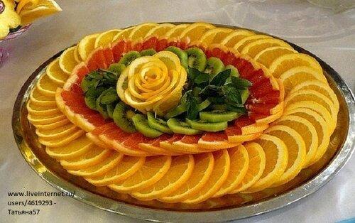 праздничные украшения блюд