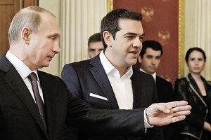 Путин и Ципрас обсудили инфраструктуру газопровода Греции