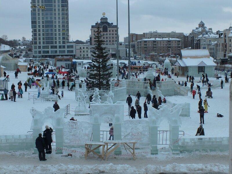 Парк ледяных фигур.