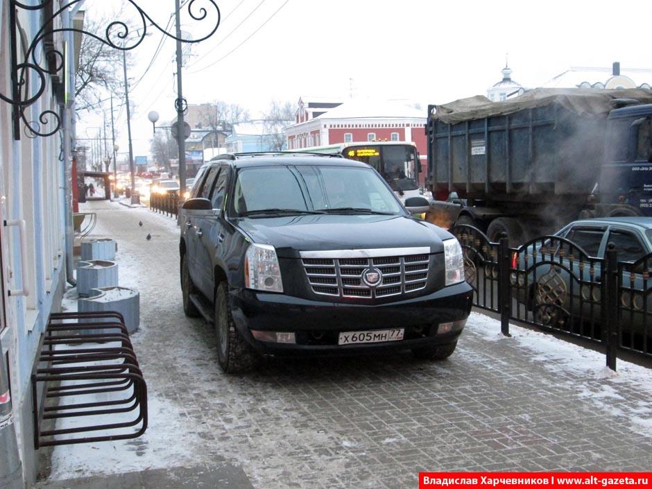 Очередной чудо-парковщик в Сергиевом Посаде