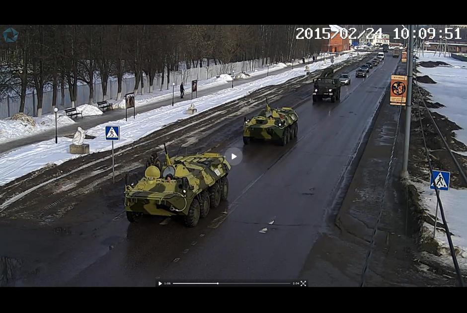 В подмосковном городе замечены БТР-90 «Росток»?