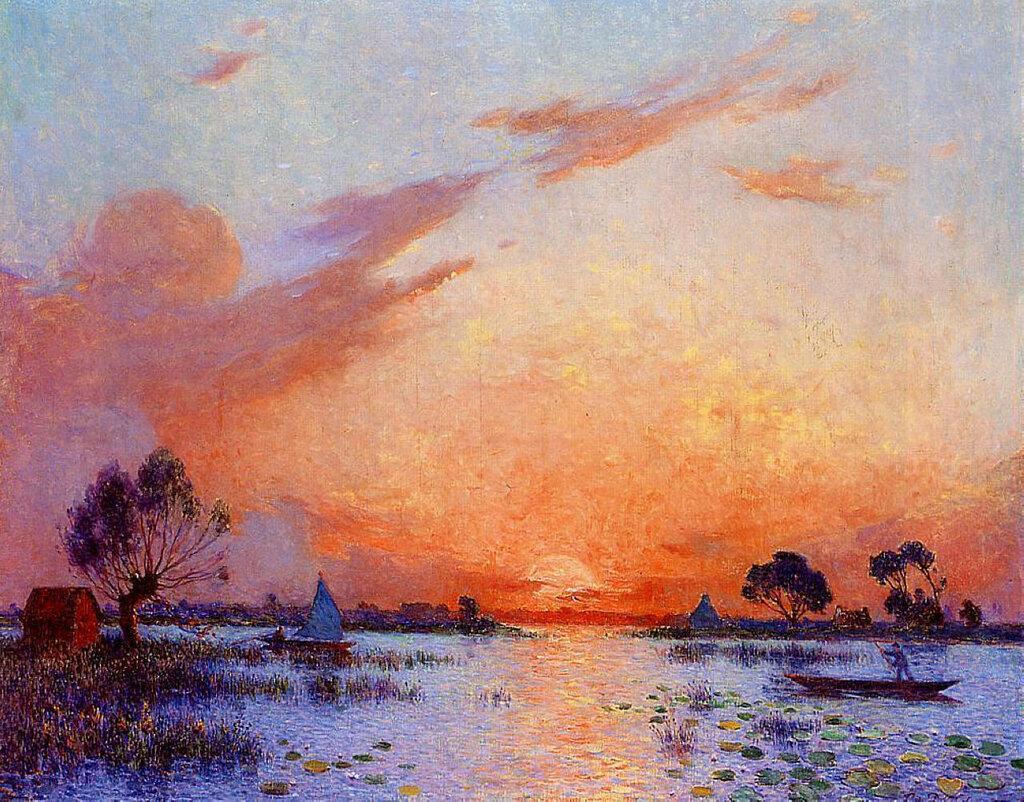 Ferdinand du Puigaudeau - Sunset in Briere, 1925.jpeg