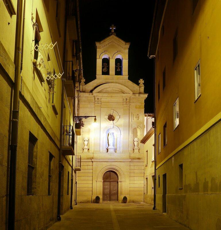 Pamplona. Church of the monastery of the barefoot Carmelites (Convento de Carmelitas Descalzas, Pamplona)