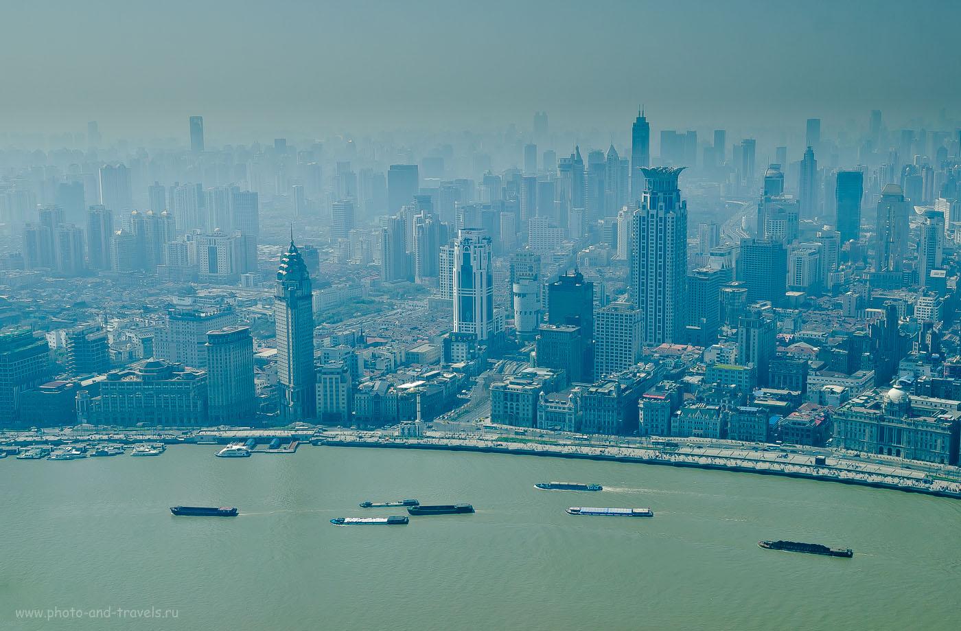 """17. Смог над Шанхаем. Как провести один день в мегаполисе? Сходите на телебашню """"Жемчужина Востока"""". Чем заняться в Китае."""