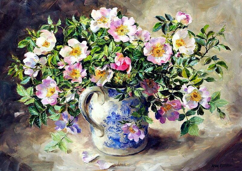 Вся прелесть цветочных бутонов. Художница Anne Cotterill