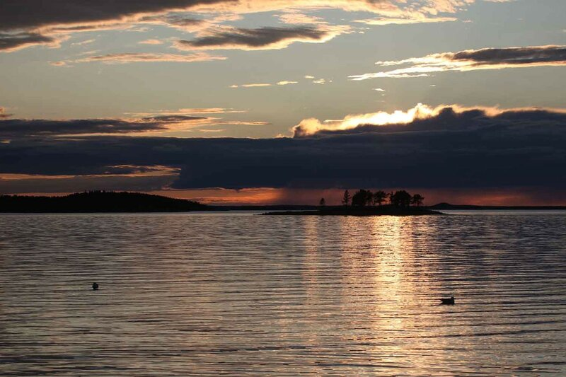 остров Сидоров, закат