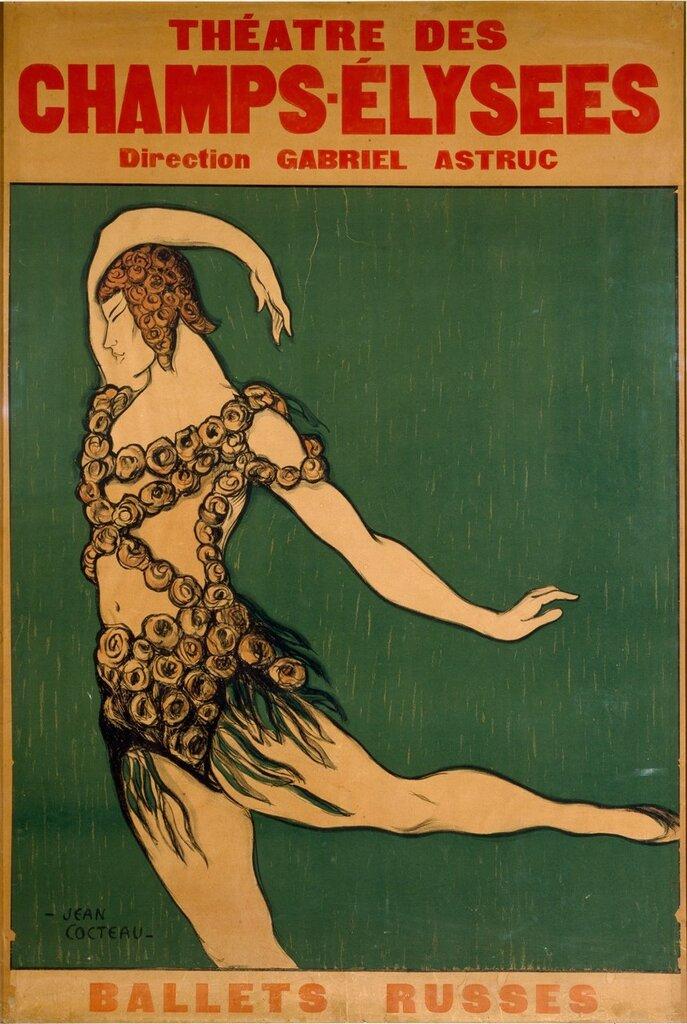 Jean Cocteau,  Poster - Ballets Russes, 1911.jpg