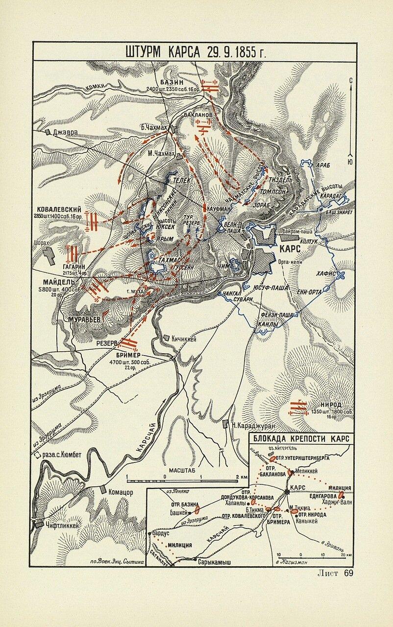 Штурм Карса 29 сентября 1855 года