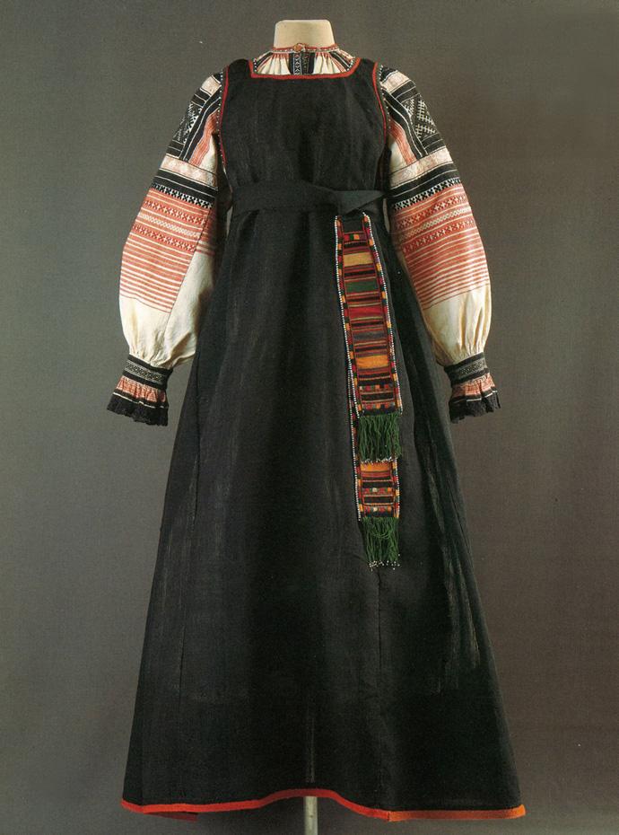 Одежда девушки из Воронежской губернии