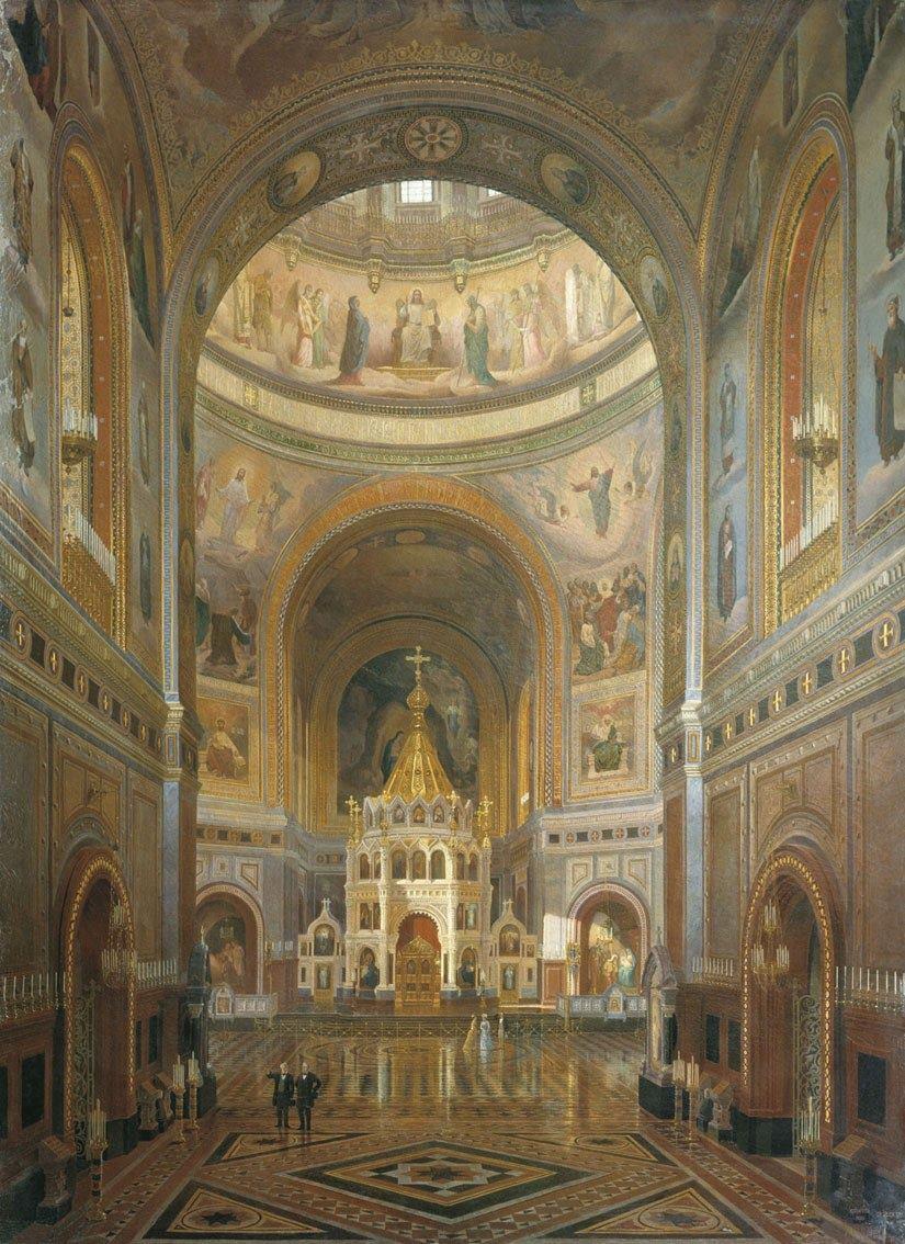 Внутренний вид Храма Христа Спасителя