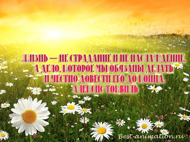 Цитаты великих людей - Что такое жизнь - Жизнь — не страдание и не наслаждение...