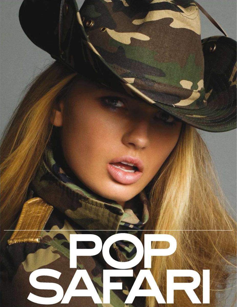 Pop Safari / Romee Strijd by Inez & Vinoodh in Vogue Paris march 2015