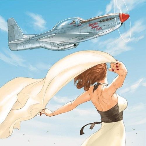 Девушка в военной форме рисунок авиация, любовные