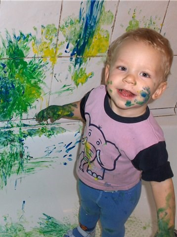 Делать пальчиковые краски