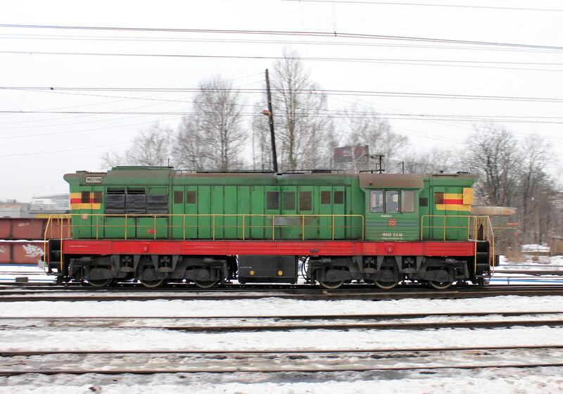 ЧМЭ3-5916 на станции Кушелевка