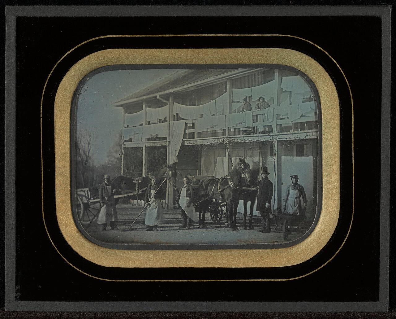 1846. Слуги в усадьбе. Швейцария