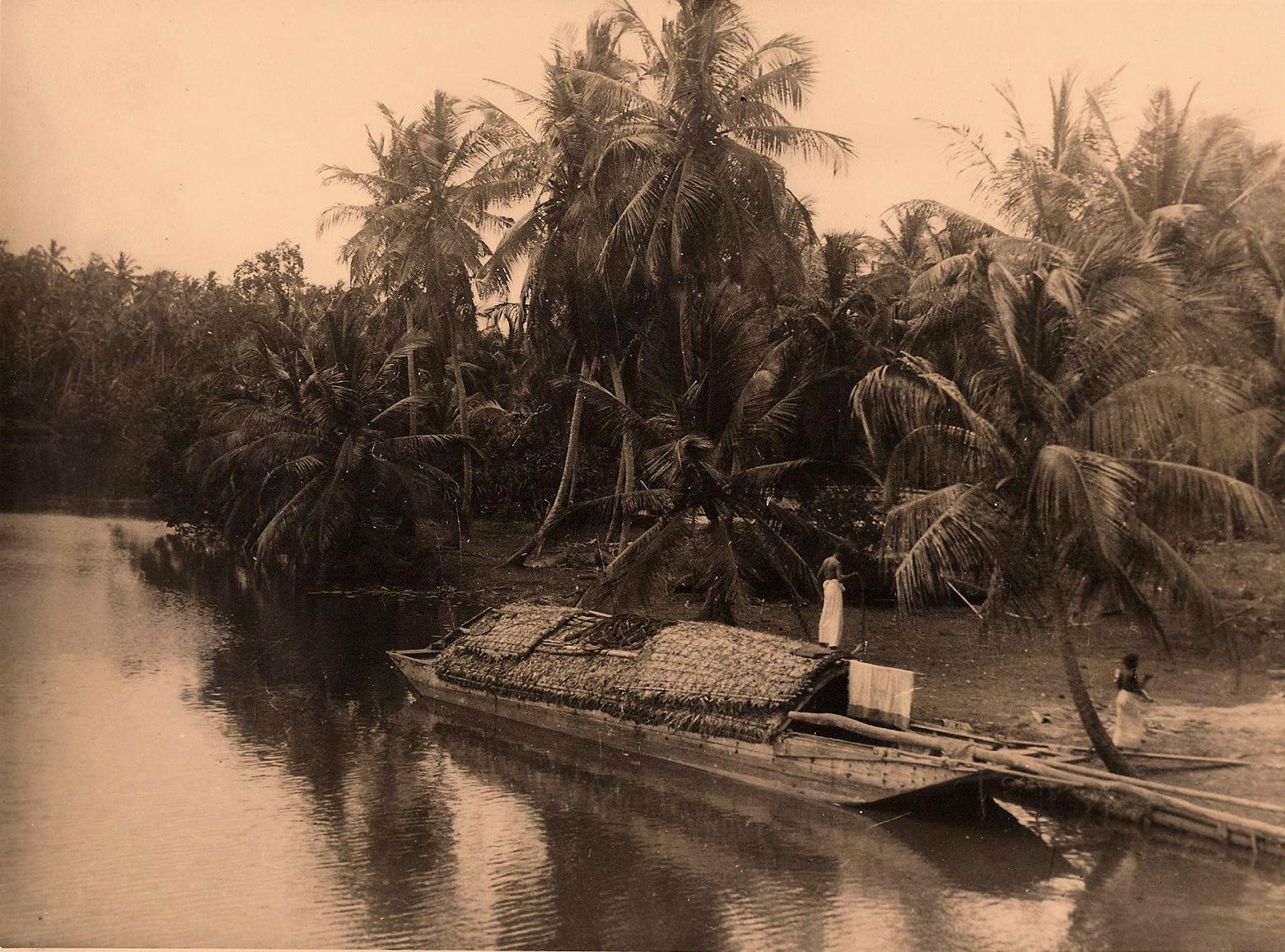 Цейлон. Лодка на северо-западном побережье