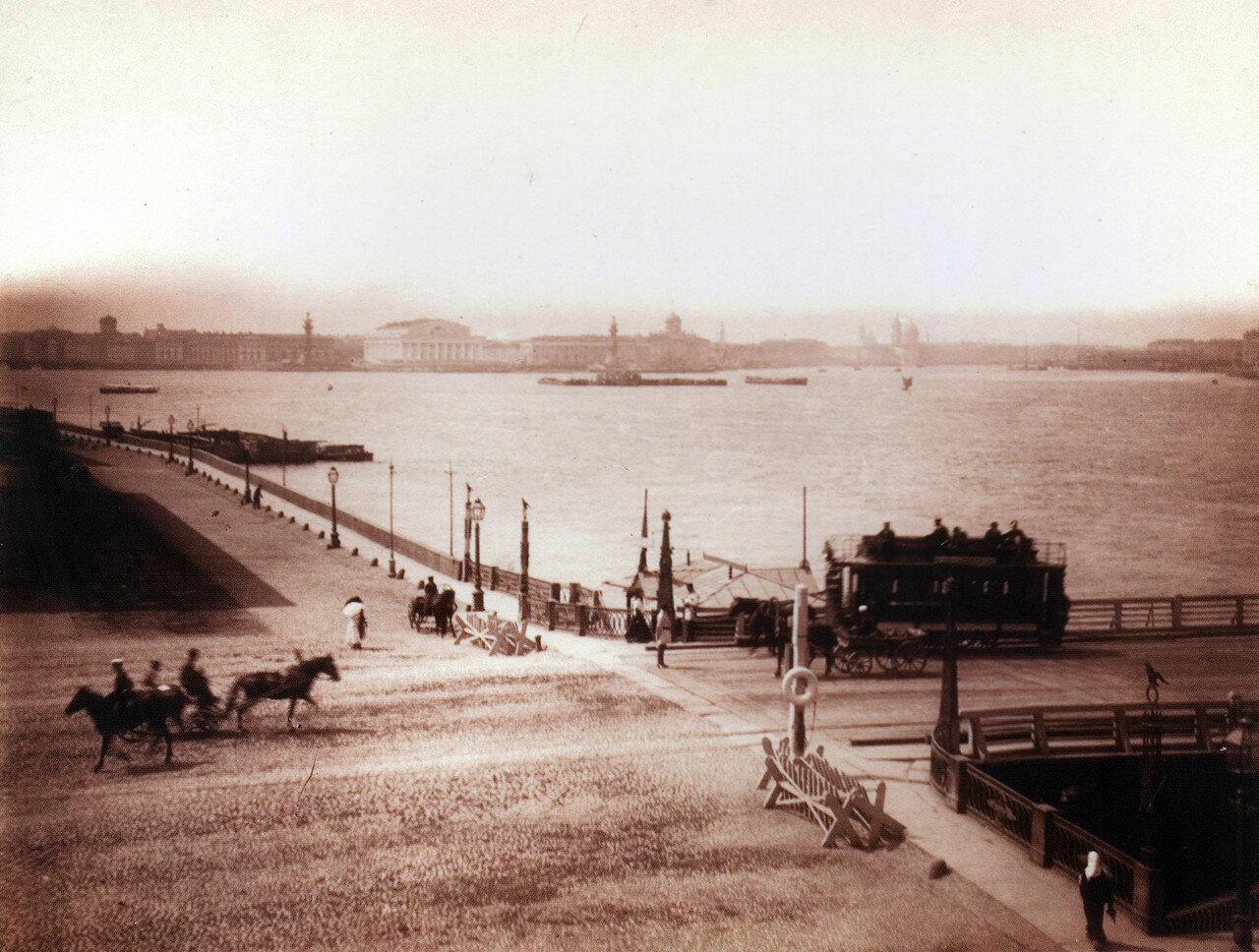 Троицкий мост и панорама Невы.1880-е