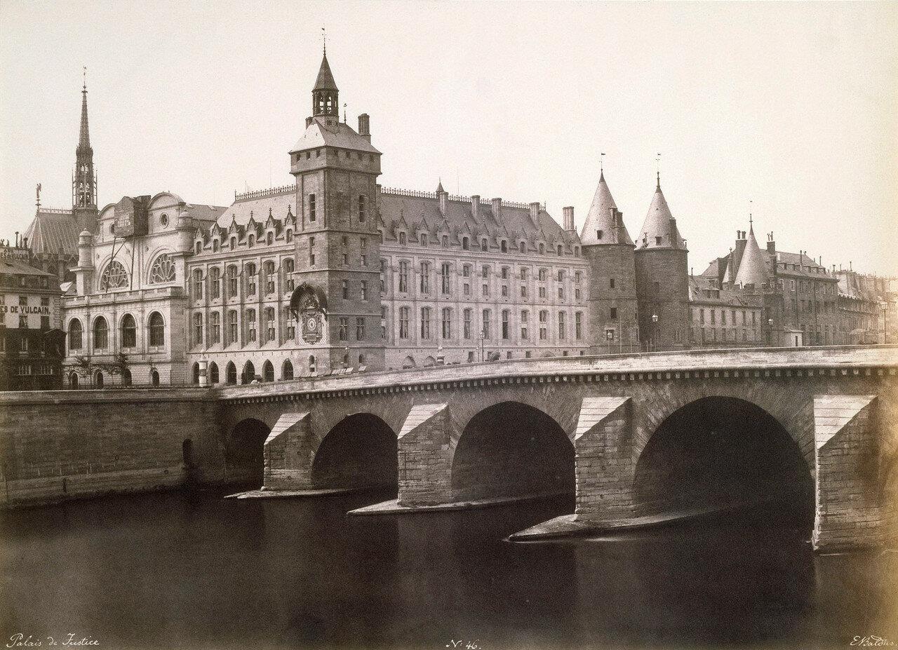 1854. Дворец Правосудия и Мост Менял
