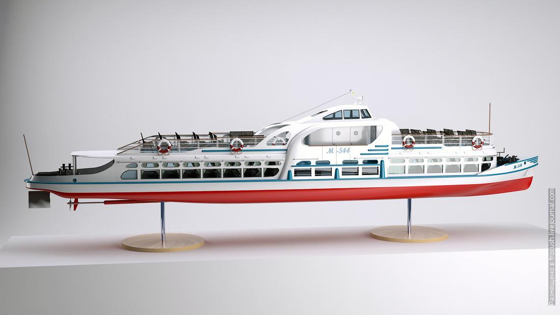 речной трамвай 3D модель