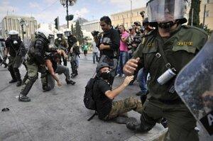 Студенты Афин вышли на акцию протеста