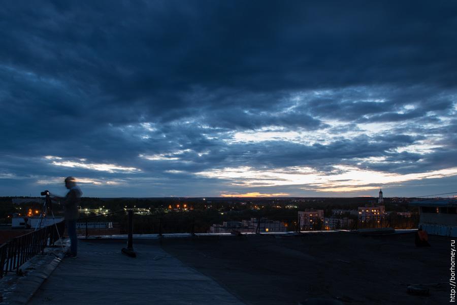 фотографировать со штативом в темное время суток