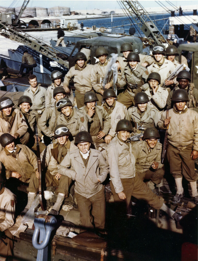 These American troops have loaded their equipment onto an LCT and are waiting the signal for the assault against the Continent.
