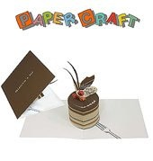 """Журнал Объемная открытка """"Шоколадный торт"""""""
