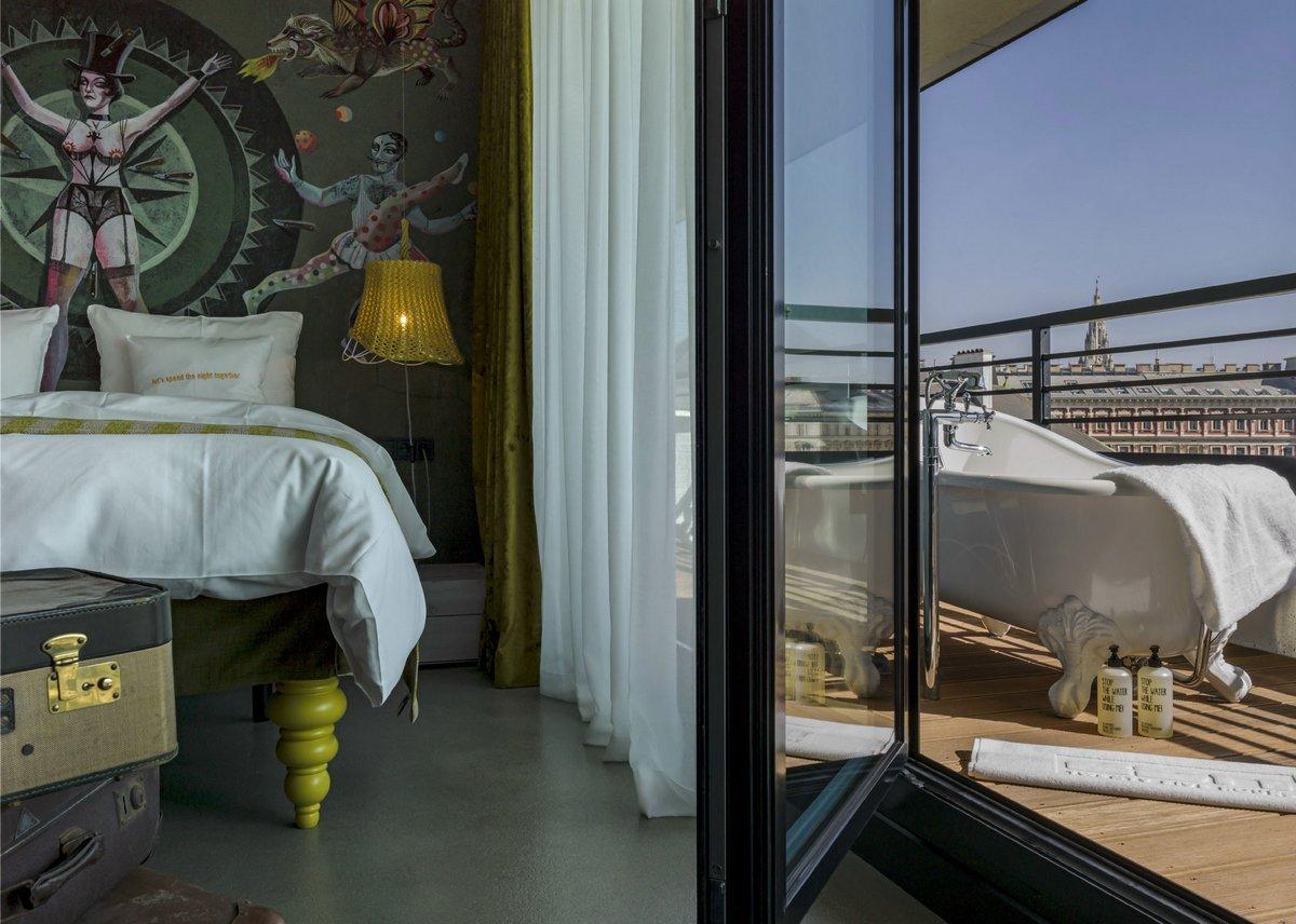 25Hours Hotel Vienna, отели в Вене, обзор отелей мира, фотографии лучших отелей мира, отели в Австрии, красивый отель фото, необычный отель фото