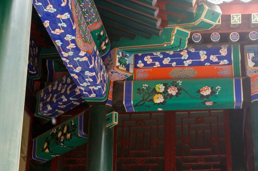 Роспись балок, резиденция князя Гуна, Пекин