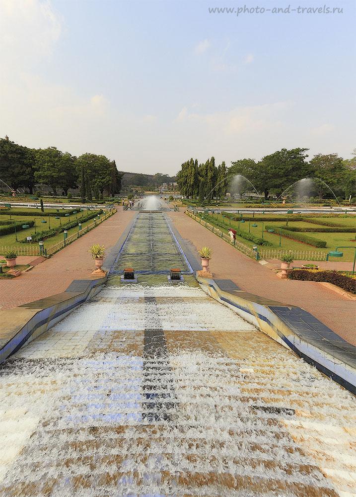 Фото 15. Танцующие фонтаны сада Бриндаван. Отзывы об отдыхе в Индии. Интересные достопримечательности Карнатаки. 1/160, 6.3, 100, 17
