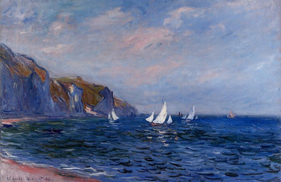 Клод Моне, Отвесные скалы и парусники в Пурвиле, 1882