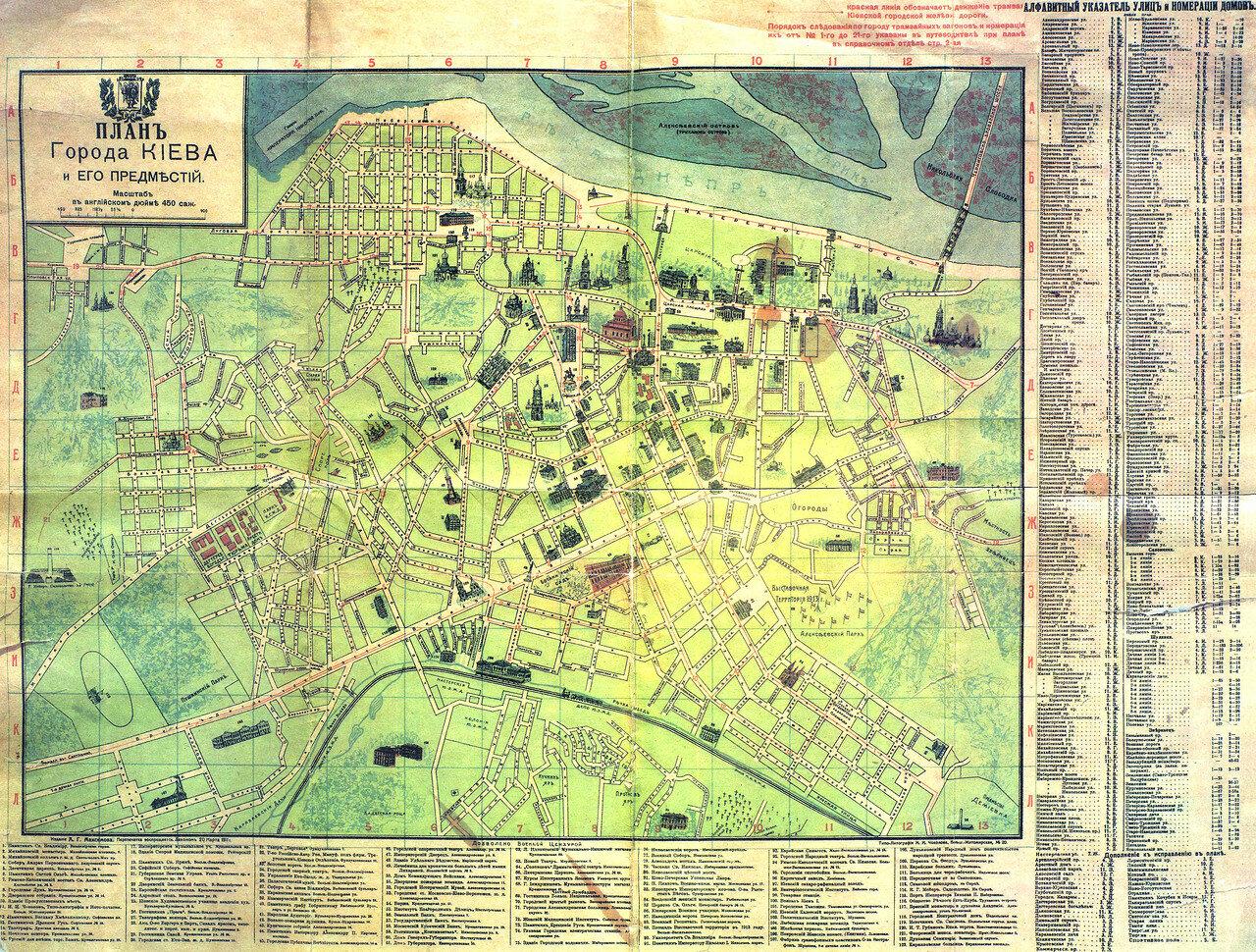 1911. План Киева и его предместий