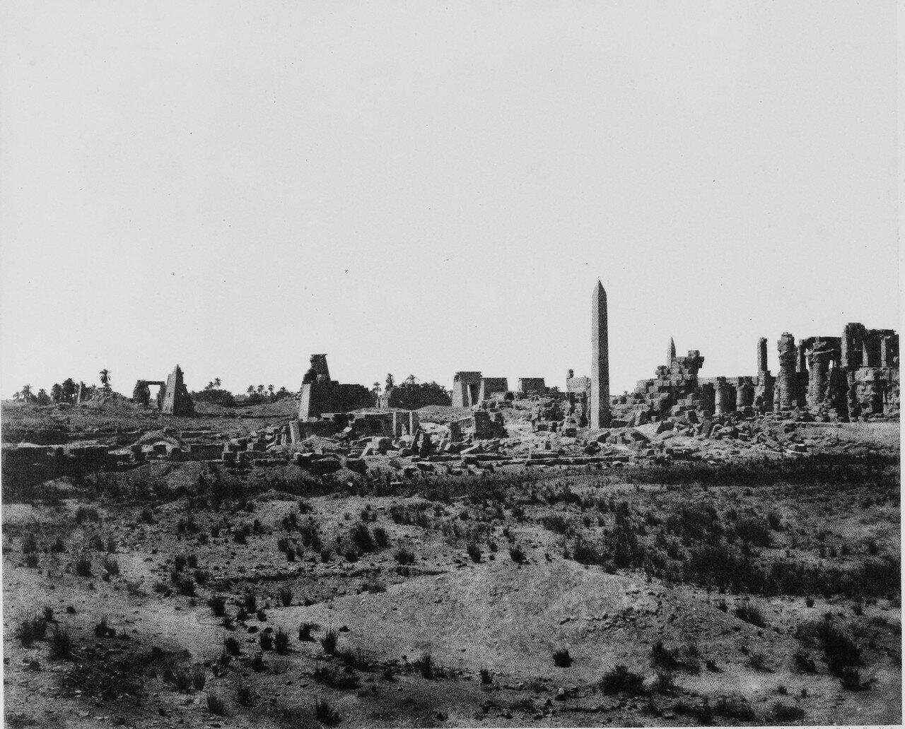 Карнак (Фивы). Общий вид развалин к северо-востоку. 1858