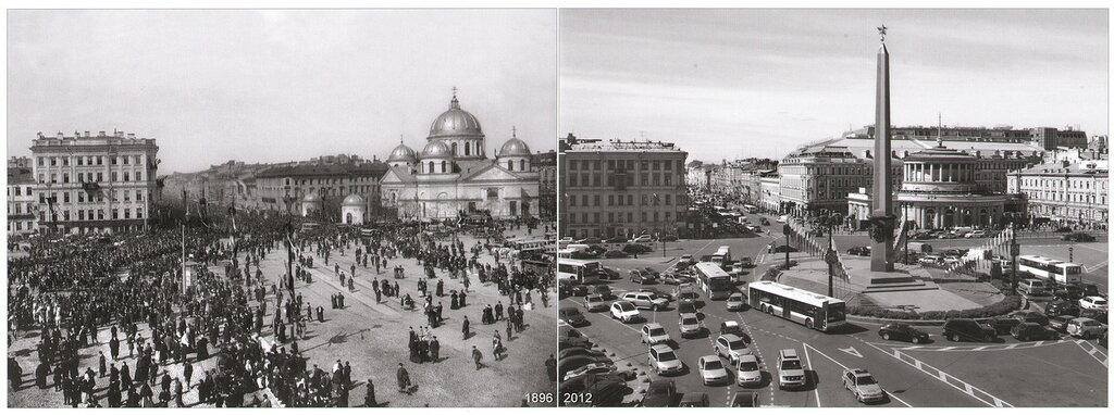 Знаменская площадь - площадь Восстания(1897-2012)