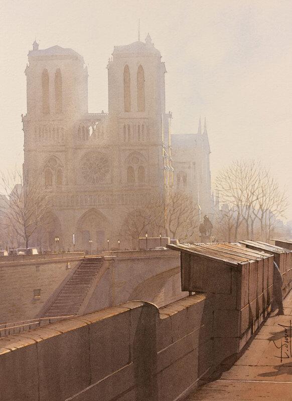 Contre-jour sur Notre Dame au matin