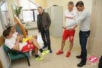 Медобследование первой группы футболистов Спартака