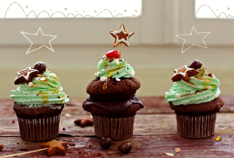 Шоколадные капкейки - пошаговый рецепт с фото #8.