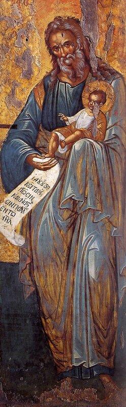 Святой Праведный Симеон Богоприимец. Греческая икона.