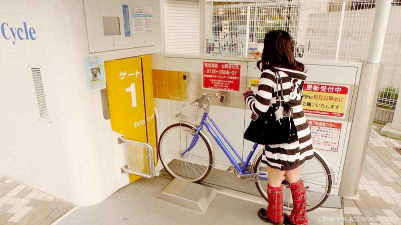 Велопарковка по-японски