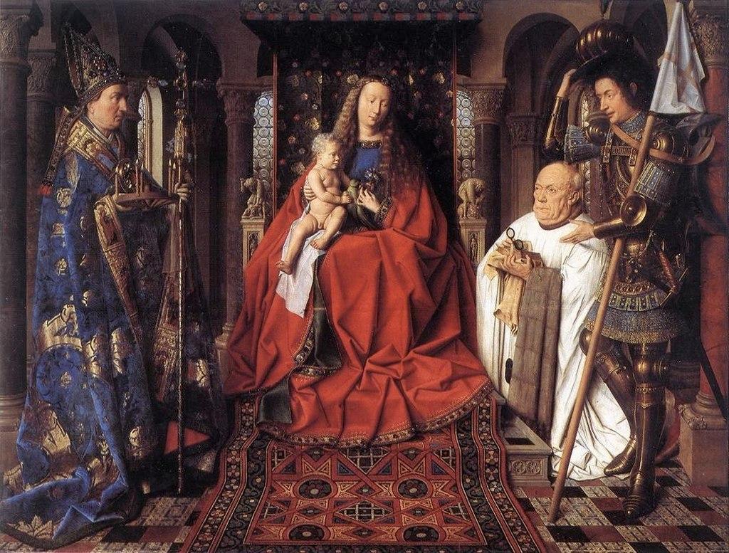 "Ян ван Эйк. ""Мадонна с канонником ван дер Палле"" 1436"