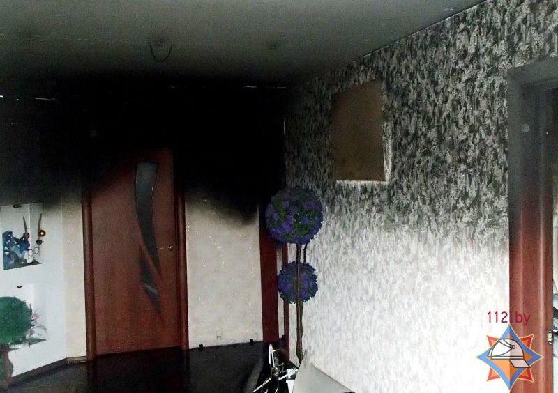 ЧП: в доме возле станции метро «Михалово» открытым пламенем горела квартира