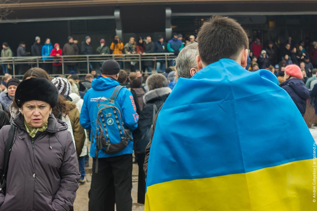 Траурный марш памяти Бориса Немцова в Петербурге